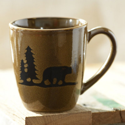 Brown Woodland Bear Mug