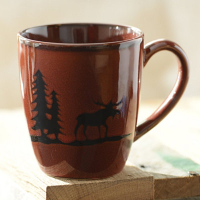 Red Woodland Moose Mug