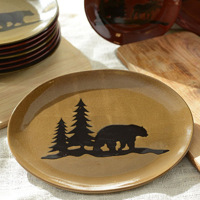 Brown Woodland Bear Platter