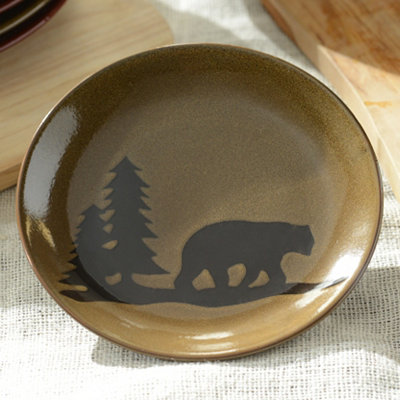 Brown Woodland Bear Salad Plate