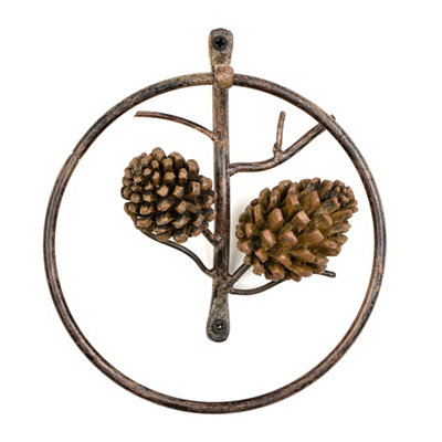 Pine Cone Towel Holder