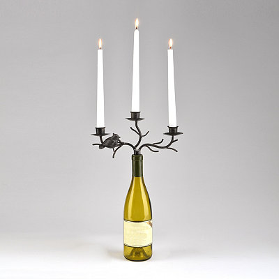 Bird Wine Bottle Stopper Candelabra