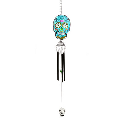 Blue Day of the Dead Wind Chime