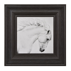White Horse Framed Art Print