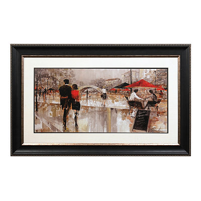 Rainy Day Stroll Framed Art Print