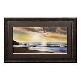 Coastal Shoreline Framed Art Print