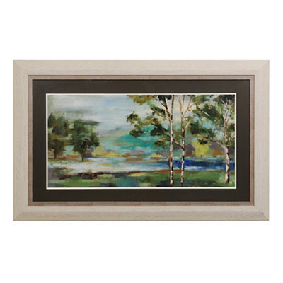 Aspens by the Lake Framed Art Print