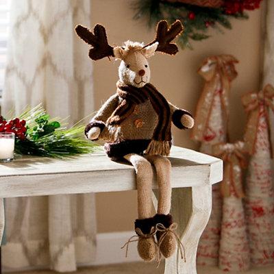 Burlap Reindeer Shelf Sitter