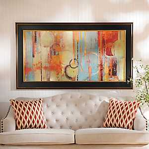 Colorful Abstract Circles Framed Art Print