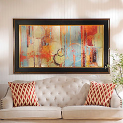Colorful Abstract Circles Framed Art Print