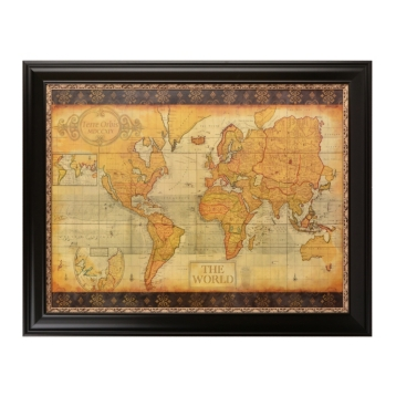 Old world map framed art print kirklands sciox Gallery