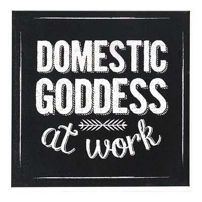 Domestic Goddess Chalk Art Coaster