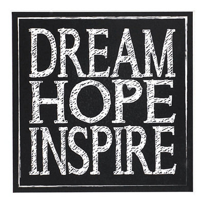 Dream Hope Inspire Chalk Art Coaster