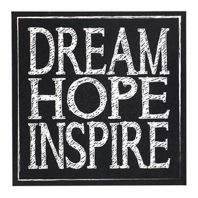 Dream Hope Inspire Chalk Art Coaster