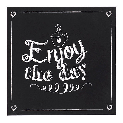 Enjoy the Day Chalk Art Coaster