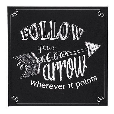 Follow Your Arrow Chalk Art Coaster