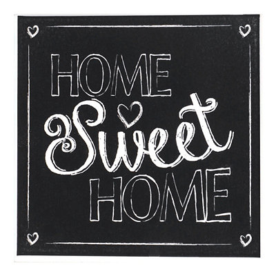 Home Sweet Home Chalk Art Coaster