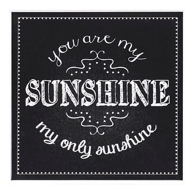 You Are My Sunshine Chalk Art Coaster