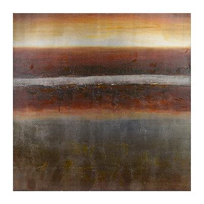 La Terre et le Ciel Metallic Canvas Art Print