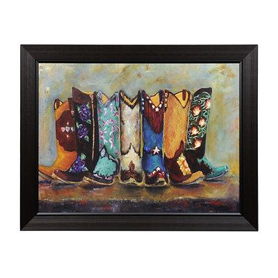 Cowboy Boots Framed Art Print