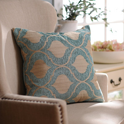 Decorative Pillows At Kirklands : Aqua Vanness Pillow