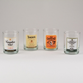 Top Shelf on the Rocks Glasses, Set of 4