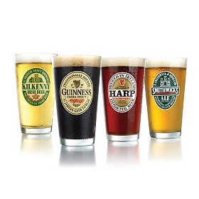 Irish Beer Glass, Set of 4