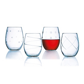 Soho Stemless Wine Glass, Set of 4