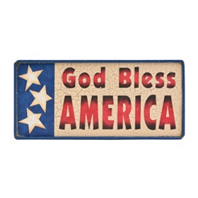 God Bless America Wooden Sign