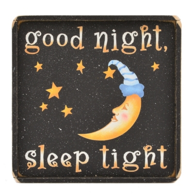 Good Night, Sleep Tight Wooden Sign