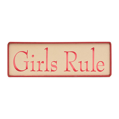 Girls Rule Wooden Sign