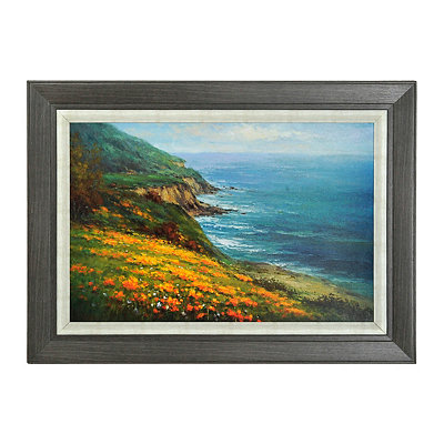 Poppies on the Shore Framed Art Print
