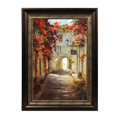 Floral Walkway Framed Art Print