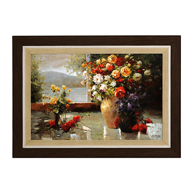 Floral Window Framed Art Print