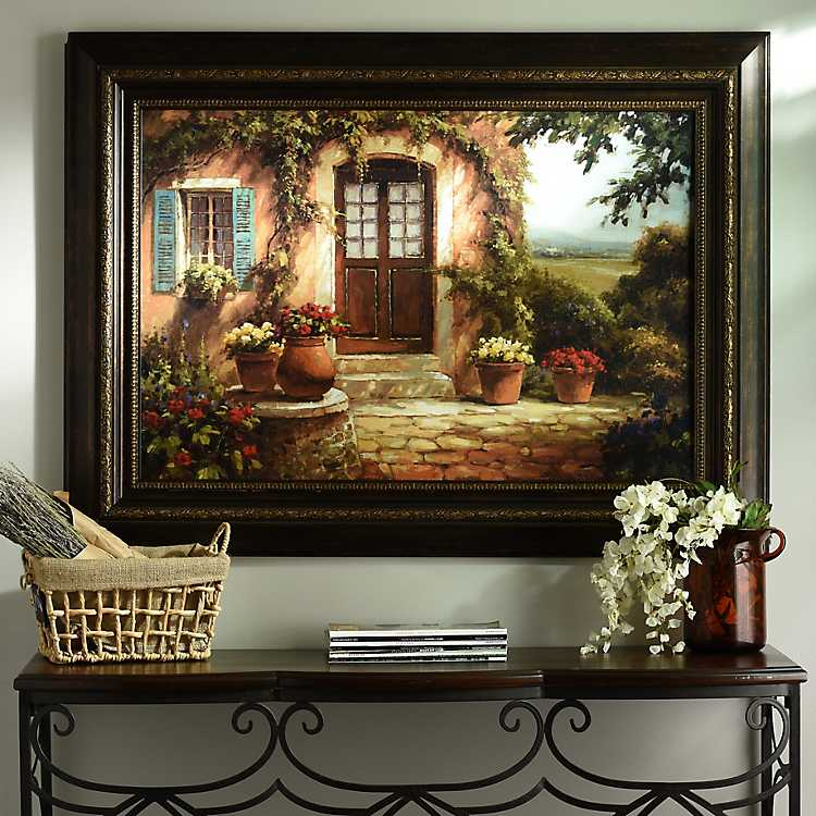 Pastoral retreat framed print kirklands for International home decor stores