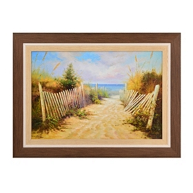 Seaside Stroll Framed Art Print