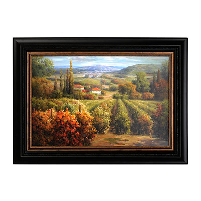 Vineyard View Framed Art Print