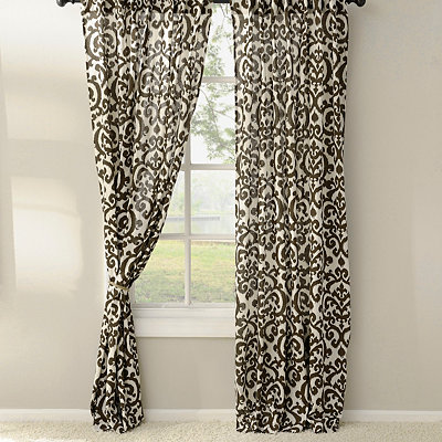 Brown Darby Curtain Panel Set, 84 in.