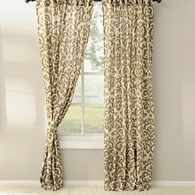 Tan Darby Curtain Panel Set, 84 in.