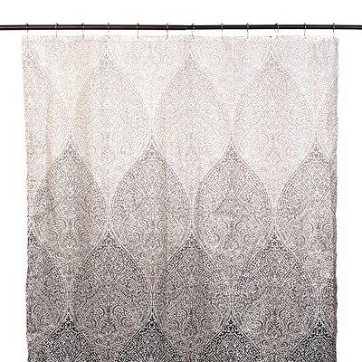 Tan Filigree Shower Curtain