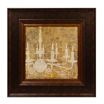 Yellow Chandelier I Framed Art Print