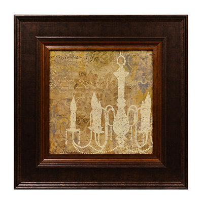 Yellow Chandelier II Framed Art Print