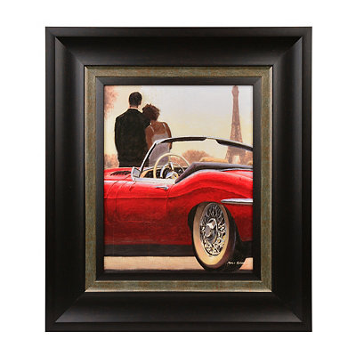 A Ride in Paris I Framed Art Print