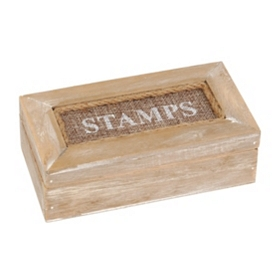 Natural Wood Stamp Box