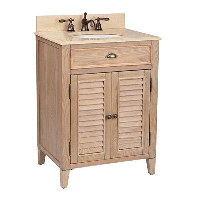 Natural Shutter Vanity Sink, 26in.