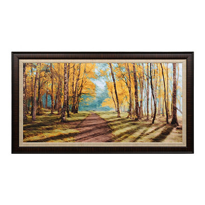 Autumn Pathways Framed Art Print