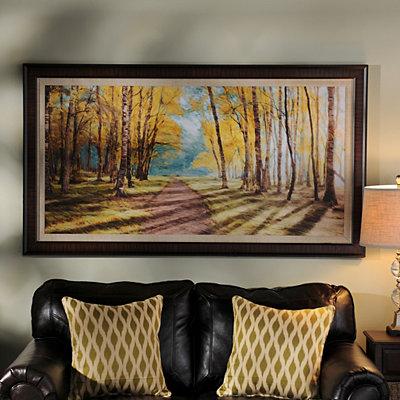 Autumn Pathways Framed Art Print