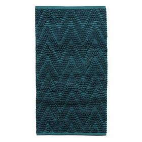 Chevron Aqua Bubble Bath Mat