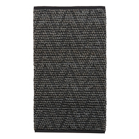 Chevron Gray Bubble Bath Mat