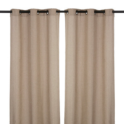 Tan Rita Curtain Panel Set, 84 in.